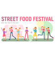 street food festival banner vector image vector image