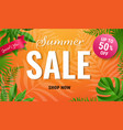 summer sale poster with text vector image vector image