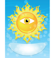 sun with eye vector image vector image