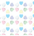 sweet candy hearts vector image vector image