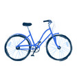 the blue bicycle drawn in vector image vector image