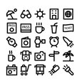 Travel Icons 5 vector image vector image