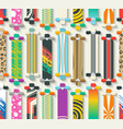 Various Longboards Seamless Pattern vector image