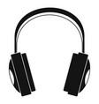 wireless headphones icon simple style vector image vector image
