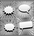 comic book gray template vector image