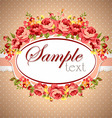 Beautiful floral Greeting card vector image