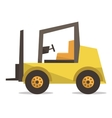 Yellow forklift truck vector image