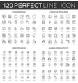 120 modern thin line icons set of my workplace vector image vector image