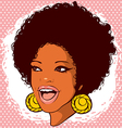 African-American woman with hair in the style of vector image vector image