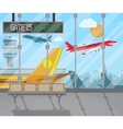 airport terminal background vector image vector image