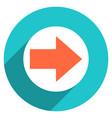 arrow sign circle icon vector image vector image