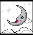 background vintage moon vector image