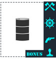 barrels of oil icon flat vector image vector image