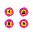 birthday party icons cake with ice cream symbol vector image