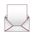 Blank paper envelopes opened with sheet vector image vector image