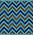 blue brown chevron retro decorative pattern vector image