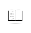book icon in black vector image