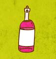 Bottle of Wine Cartoon vector image vector image