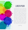 bright watercolor background with paint blots vector image vector image