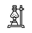 burner boiling chemistry liquid line icon vector image vector image
