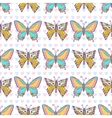 Butterflies pattern Hand drawn seamless vector image vector image