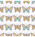 Butterflies pattern Hand drawn seamless vector image