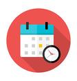Calendar and clock Time circle icon vector image