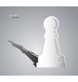 Chess Pawn Queen vector image vector image