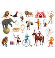 circus acrobat clown trained animals magician vector image vector image