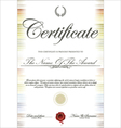 Colorful certificate template vector image vector image