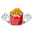 crazy chicken nuggets in a mascot bowl vector image vector image