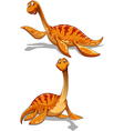 Cute dinosaur in two poses vector image vector image