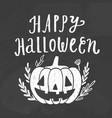 cute halloween pumpkin vector image vector image