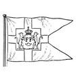danish west indian flag vintage vector image vector image