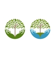Ecology natural environment logo Tree vector image vector image