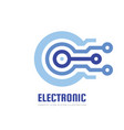 electronic computer chip - concept business logo vector image vector image