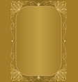 elegant unusual golden background with golden vector image vector image