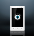 Eye on the screen of your smartphone vector image