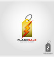 flash sale logo template vector image vector image