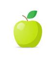 fresh juicy green apple icon tasty ripe fruit vector image