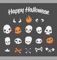 funny skulls set vector image