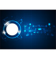 futuristic blue circle technology icon vector image vector image