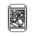 gps service isolated icon vector image vector image