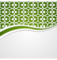 green patterned background vector image vector image
