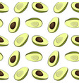 half avocado pattern avocado slices vector image vector image