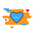 heart icon blue with minus trendy vector image vector image