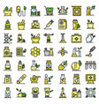 homeopathy icons set flat vector image vector image