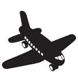 isolated airplane toy vector image vector image