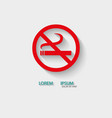 logo no smoking vector image