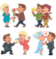 Love story of a man and a woman vector image